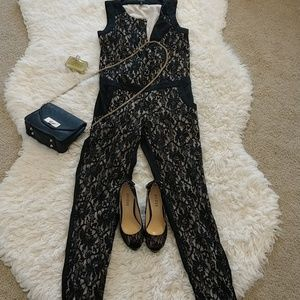 Jessica Simpsons lace and nude jumpsuit